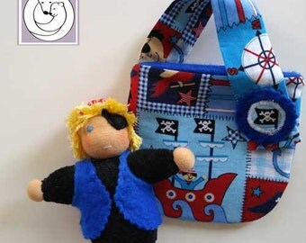 Waldorf inspired Pocket Pirate with Bag