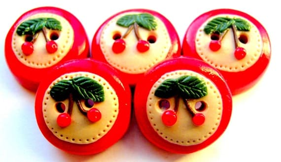"Ready to ship Cherry 5 3/4"" buttons"
