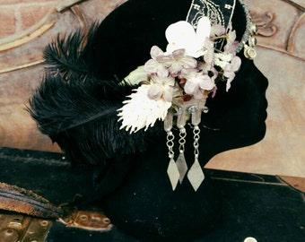 Fae Headdress - Art Deco/Nouveau Fantasy Faerie Tribal Fusion