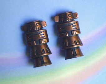 Vintage 60s Copper Kachina Salt and Pepper Shakers