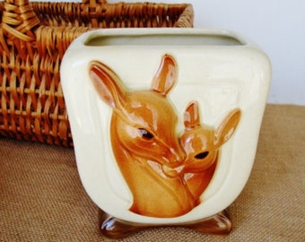 vintage deer vase royal copley fawn ceramic vase
