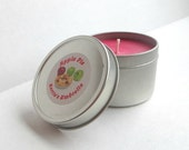 MOVING SALE Apple Pie, Scented Candle, Handmade Soy Wax Candle, Apples, Cinnamon, Pie, Food Candle4 oz Travel Tin, Red