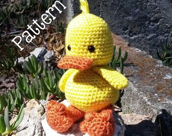 Duck Amigurumi Toy Crochet PATTERN