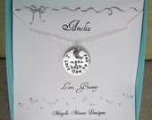 I Love You To The Moon And Back Necklace With Personalized Card Sterling Silver