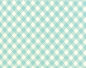 In Stock!! - Vintage Picnic (55124 12) Check Aqua by Bonnie & Camille - cut options available