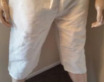 Hermans Hemp Men's 100 percent Hemp L Yoga pants off white shorts