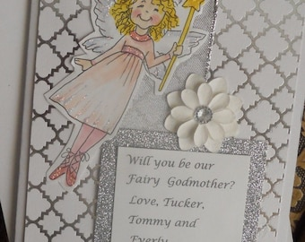 Custom Will You Be My Fairy Godmother Card