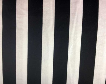 B&W Stripe Black and White Striped Fabric Stripes Fabric By the Yard or Half Yard Stripe Fabric Cotton Quilting Fabric a3-9