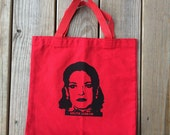 Tote Bag, Lolita Lebron, Puerto Rican revolutionary, Poly/Cotton, Red