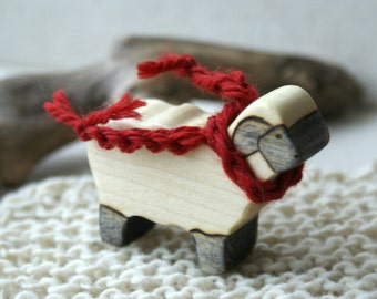 Wood n Wool Friend- Sheep (ready to ship)