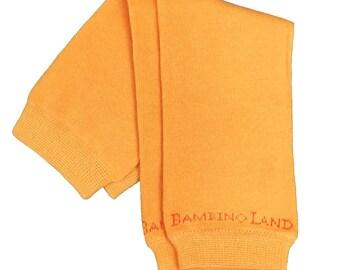 Organic Baby Leg Warmers Orange
