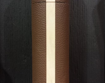 World's first leather wrapped pepper mills.