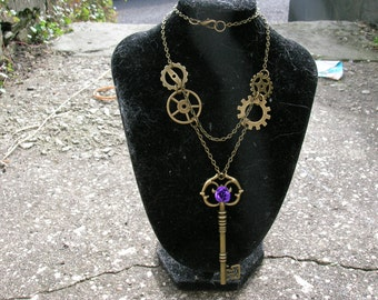 steampunk rose key