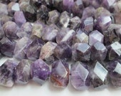 Amethyst Beads, Purple Amethyst, Chunky Amethyst Beads, Center Drill Nuggets, Semi Faceted Nuggets, 16-18mm, Qty 9 - gm455