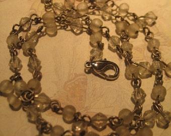 Vintage Delicate Crystal Necklace