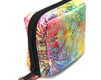 Essential Oil Roller Bottle Case Colorful Tie Dye Paisley