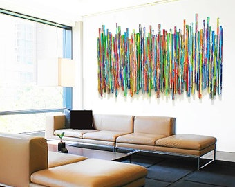 Large Abstract Wall Sculpture | Original Contemporary Wall Art | Waiting Room Lobby Art | Custom Corporate Artwork | Rosemary Pierce