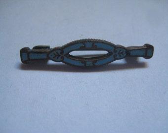 Victorian Blue Enamel Lingerie Pin Soo Cute