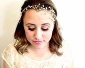 Crystal Bridal Hair Vine, wired crystal wedding Headband, crystal bridal, wedding hair vine, head piece, bridal halo, crystal crown