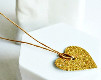 Gold Glitter Heart Tags | Gold Heart Tags | Gold Glitter Tags | Heart Tags | Love Heart Tags | Valentine Heart Tags | Wedding Favors