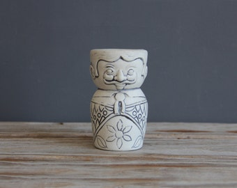 Italian Man / Woman Ceramic Vase