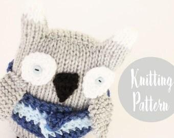Knitting pattern toy, knitting patterns, owl pattern, handmade owl, plushie owl pattern, soft toys,