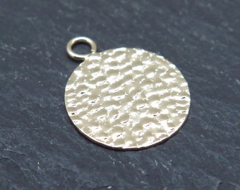 Gold Filled Hammered Disc 13mm (CG8363)