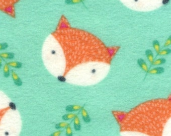 Fox Jade Flannel Timeless Treasures Fabric 1 yard