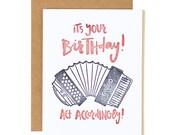 It's Your Birthday, Act Accordingly! Letterpress Card//1canoe2