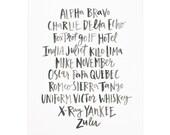 Alpha Bravo Charlie Art Print | 16x20
