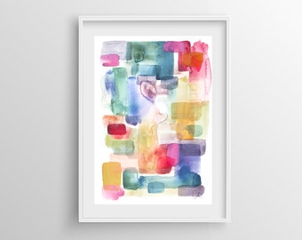 Abstract Painting Giclee Print nº 13, Fine Art Print, Watercolor print, Abstract art, Original Painting, Giclee art print, 8x12,12x16,16x24