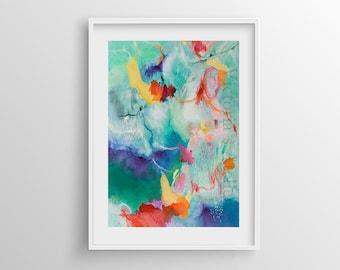 Abstract Painting Giclee Print nº 7, Fine Art Print, Watercolor print, Abstract art, Original Painting, Giclee art print, 8x12,12x16,16x24