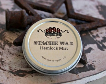 CHOOSE YOUR SCENT - Mustache Wax - Stache Tamer - 1 Oz Tin