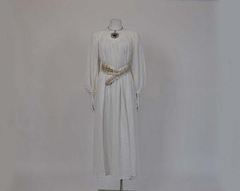 70s dress / Goddess Gauze Vintage 1970's Boho Dress