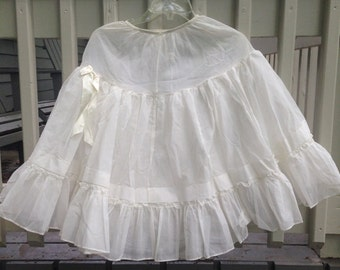 Vintage Penny Dale Half Slip White Dotted Swiss Crinoline