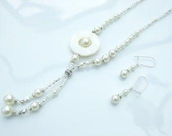 SET - Mother Of Pearl Cream, Pearl & Bali Off-Set Wedding Idea