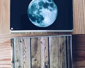 Moon or Wood Print Business Card Holder