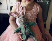 "Download Now - CROCHET PATTERN Snuggle Bunny - 24"" Tall Standing Including Ears - Pattern PDF"