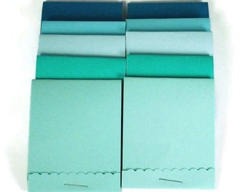 20 Matchbook Notepads   Match Books Mini Note Pads in Ocean