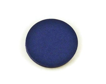 Three Inch Paper Die Cuts  3 inch  Circles  in  Navy Blue Set of 30