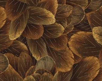 One yard - Bronze Feathers - CM1493