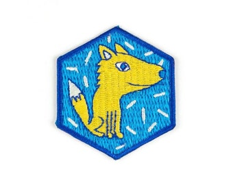 Fox Iron On Patch - Embroidered Patch - Woven Patch - Mokuyobi Threads - Patches for Jeans - Cute Patches - Patches for Jackets