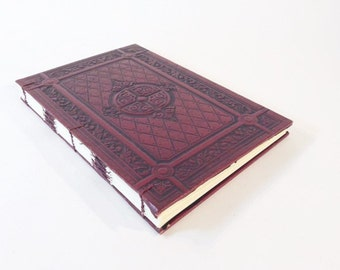 Red Celtic Cross Vintage Journal or Wedding Guest Book with Blank Pages