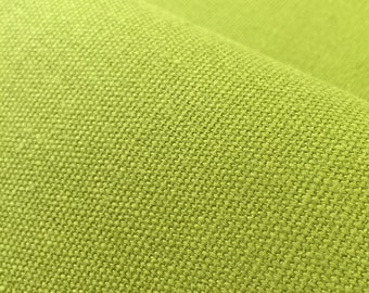 Gorgeous Green Hemp & Organic Cotton fabric for interiors or upholstery, perfect for printing projects