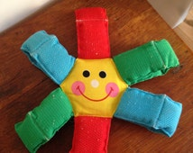 1970s Fisher Price cotton baby toy Sun