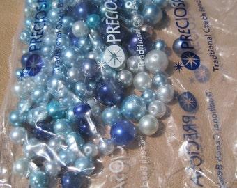 Preciosa glass pearl mix - Blues