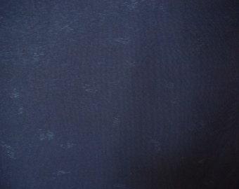 Vintage kimono S160, silk, navy blue, summer