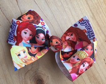 Lego Friends Inspired Hair Bows, Lego Friends Party, Lego Friends, Lego Friends Birthday, Lego Friends Party Favor, Lego Friends Loot bags
