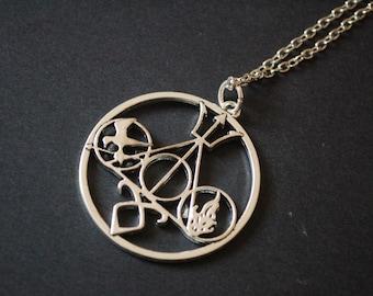Large Multi Fandom necklace