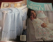 Baby Afghan Crocheting Patterns Lullaby Medley Leisure Arts 3088 Anne Halliday Crochet Pattern Leaflet